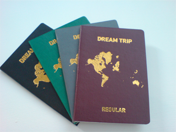 Different coloured passports