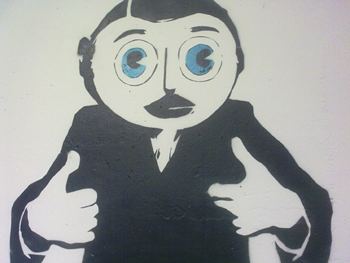 Frank Sidebottom 'Thumbs' by Stewy