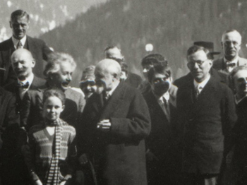 Paul Tillich (right, glasses) at conference with Einstein