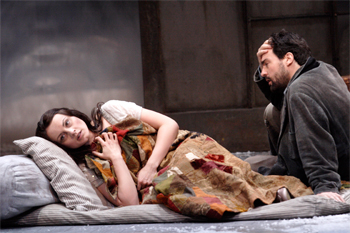 Mimi (Anita Hartig) and Rodolfo (Alex Vicens). Photo by Catherine Ashmore