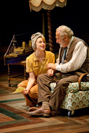 Sarah Ridgeway as Alice and Christopher Benjamin as Martin Vanderhof. Photo by Jonathan Keenan